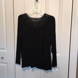 Dana Buckman women's XL top long sleeve black